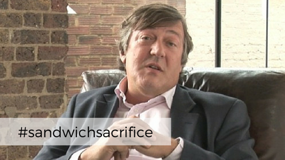Stephen Fry and cucumber sandwiches