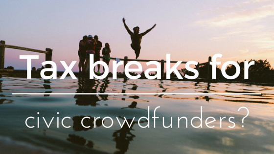 Tax breaks for civic crowdfunders