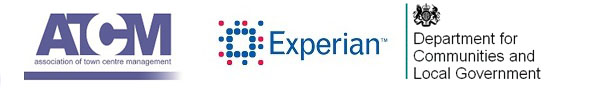 logos for atcm and experian and dclg