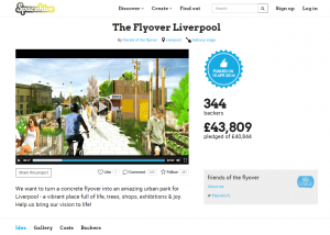 The Flyover project page - 100% funded!