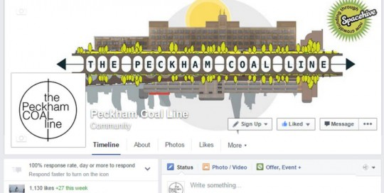 Peckham Coal Line Facebook Support