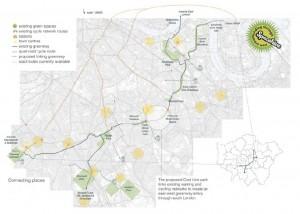 Peckham Coal Line Map