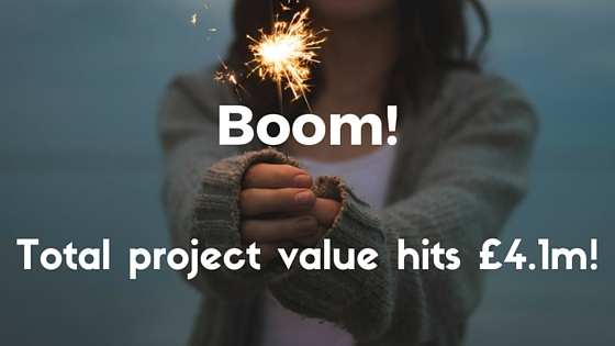 Boom! Total Project Value hits 4.1m