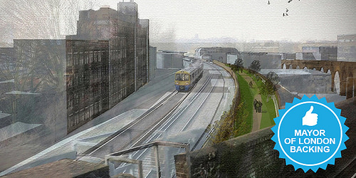 The Mayor of London has pledged £10K to Peckham Coal Line!