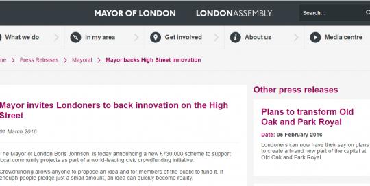 Mayor of London Press Release