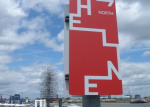 The Line signage. Photo copyright Gordon Joly