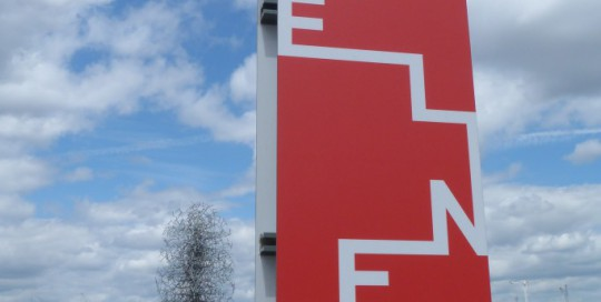 The Line signage. Photo copyright Gordon Joly