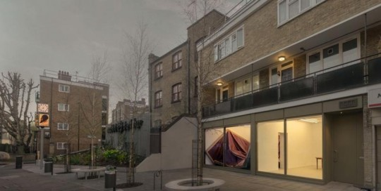Installation View, Angela de la Cruz: Hoxton at PEER