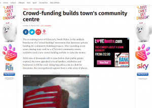 The Independent - Crowdfunding builds town community centre