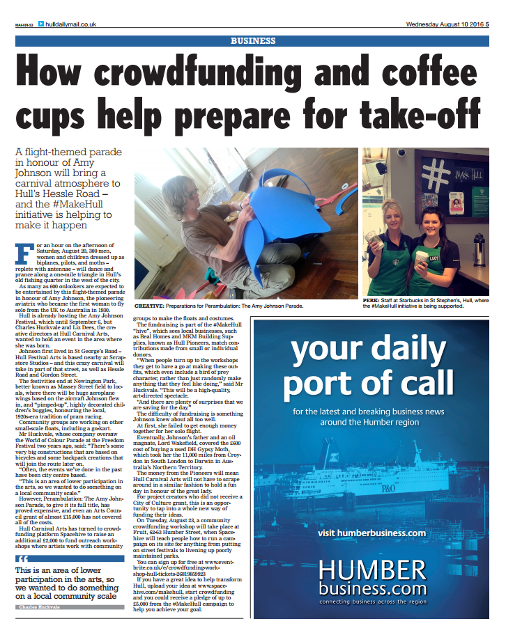 How crowdfunding and coffee cups helped Hull take off