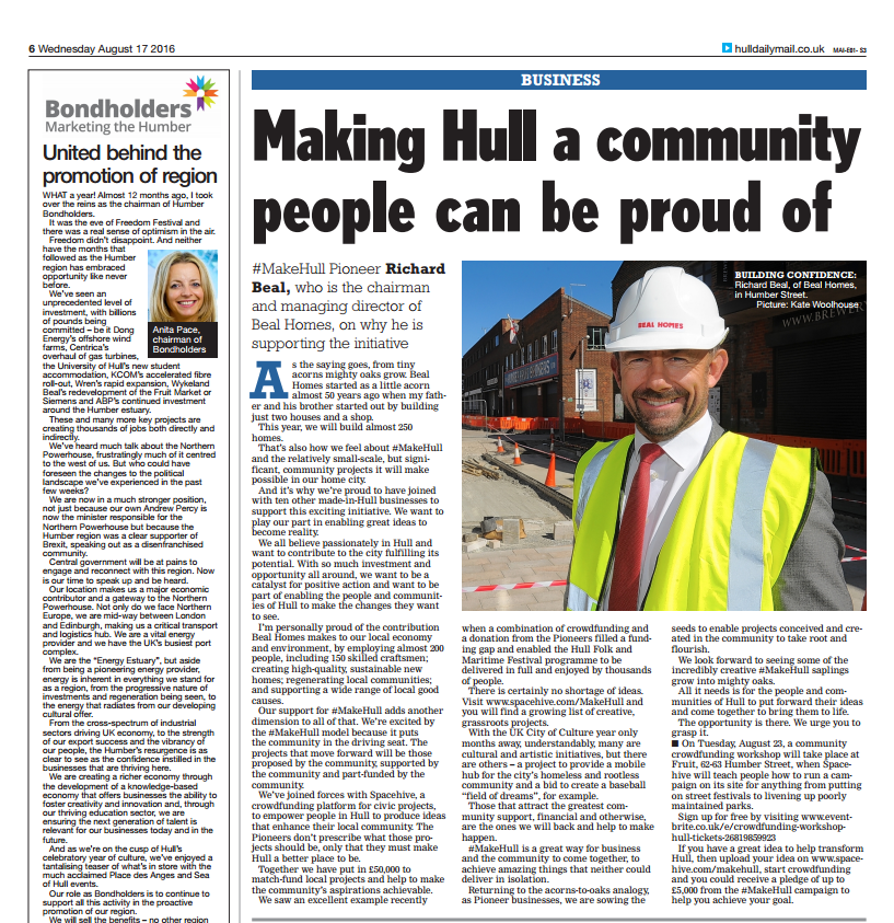 Making Hull a Community People Can be Proud of