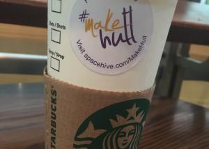 Starbucks cups for #MakeHull