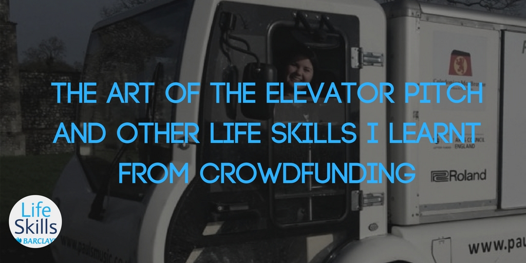 The art of the elevator pitch and other life skills I learnt from crowdfunding