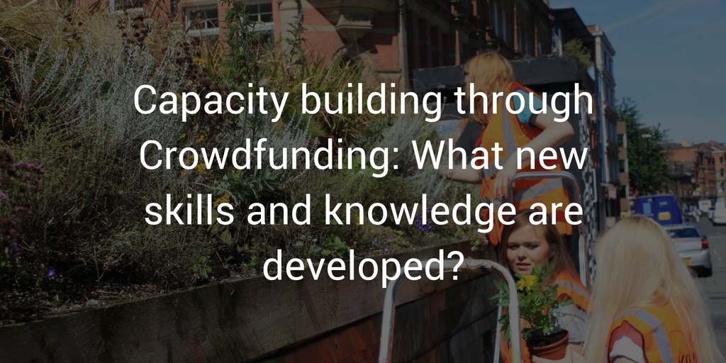 Capacity building through Crowdfunding: What new skills and knowledge are developed?
