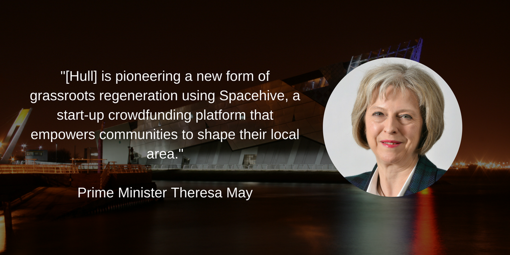 Theresa May: Spacehive empowers communities