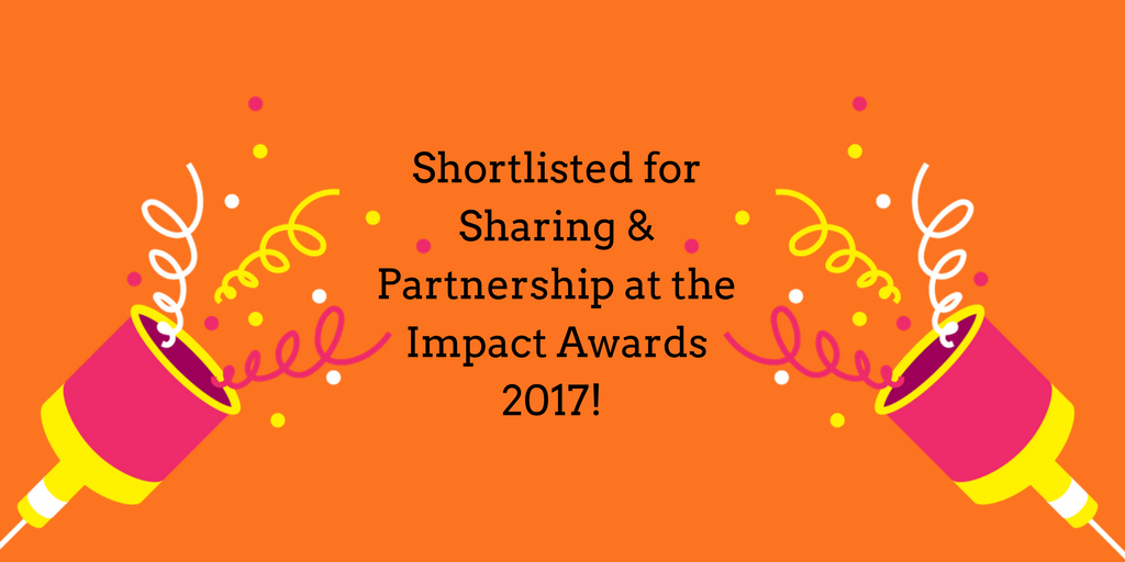 Shortlisted for Sharing & partnership at the Impact Awards 2017!