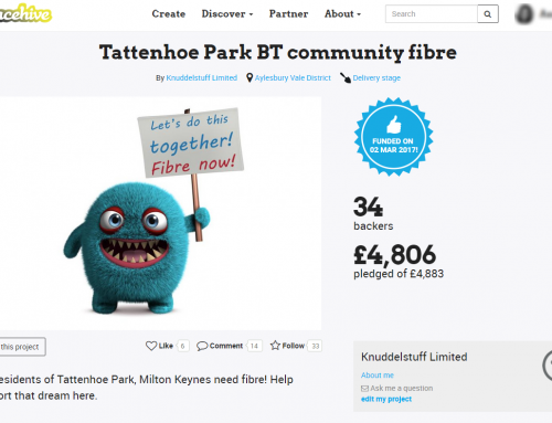 Tattenhoe Park BT community fibre – Project Page